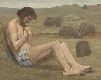 Pierre Puvis de Chavannes : The Prodigal Son (1879) Canvas Gallery Wrapped Wall Art Print