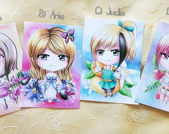 Chibi Postcards