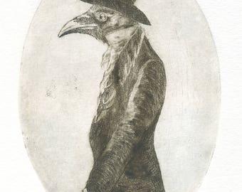 "Engraving ""Mr. Crow"""