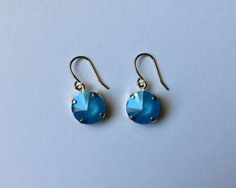Handmade Earrings - Made with Swarovski Crystal (Summer Blue)