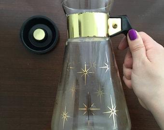 Corning NY Pyrex Glassware Coffee Pot Large Atomic Starburst