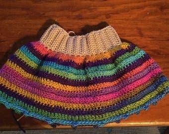 Girls crochet skirt