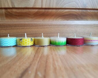 Beeswax decorative tealight candles - 6 pack. *CLEARANCE*
