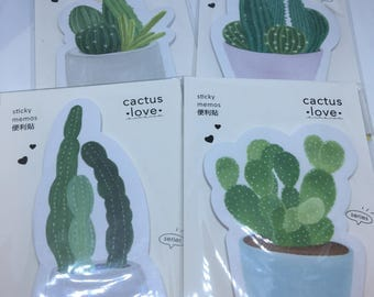One packet of brand new Mini Sticky Cactus Notes Perfect for planners or journals Kawaii Japan San-X Post-it Desert Arizona