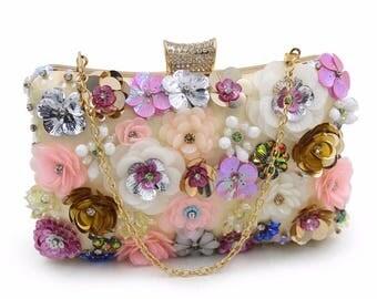 Crystal clutch, Evening clutch, Bridal clutch, Clutches, Clutch, Fashion clutch, Floral clutch, Evening purse, Wedding clutch, Party clutch
