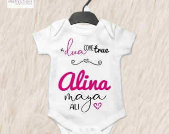 Muslim baby etsy islamic gifts muslim baby gift personalised babygrow onsie coming home outfit negle Images