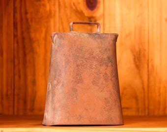 Antique Cow Bell - Vintage Cow Bell - Cow Bell - Hand Forged Metal - Farm Decor - Vintage Brass Bell - Antique Brass Bell - Farm Bell