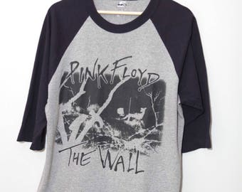 Vintage Late 1990's Pink Floyd The Wall Baseball Shirt | Size Large