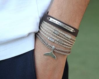 Leather Bracelet, Mens Bracelet, Bracelets, Friendship Bracelet, Boyfriend Gift, Gift For Men, Bracelet Homme, Best Selling Items, For Him