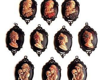 Pendant chain skull skull la Catrina day of the dead Dia de los Muertos black Mexico Gothic
