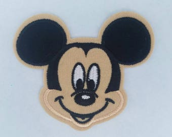 Mickey mouse inspired iron on patch, Mickey mouse birthday party inspired applique