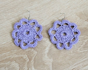 Lilac earrings