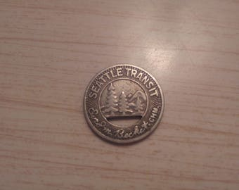 Seattle Transit System Fare Token Coin