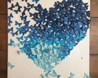 3D butterfly art