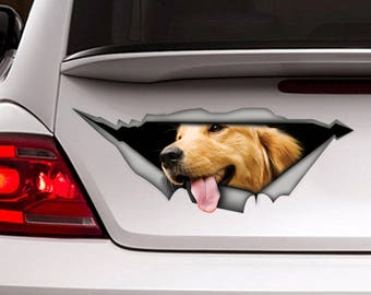 Golden Retriever car Decal, Pet decal , Dog Decal, Vinyl Decal, Car Decal, funny decal, Laptop Decal