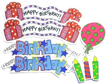 6 Happy Birthday My Mind's eye creative cardmaking scrapbooking cuts