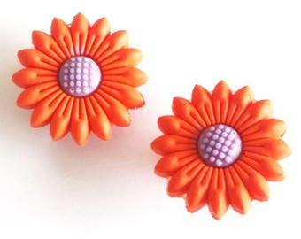 2 pins clips shoe charms type flowers Jibbitz shoe hooks or any other garment decoration, bag