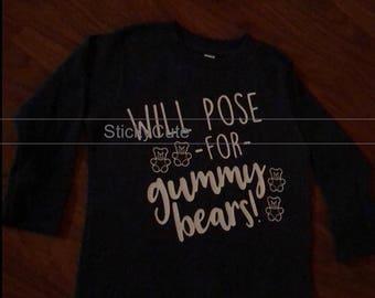 Toddler Shirt Will Pose for Gummy Bears