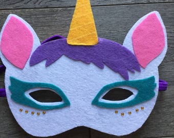 Or to play for halloween felt Unicorn mask