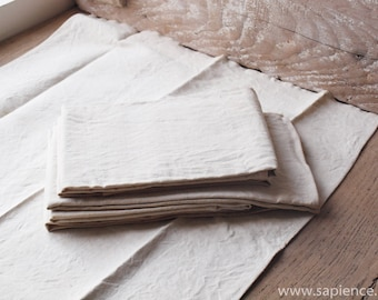 Homemade heavy hemp antique French tea towels XXL or dishcloths