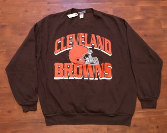 Vintage Cleveland Browns Crewneck sweater XL Old school logo 90's Clean NFL jersey Cleveland Cavaliers Indians sweater