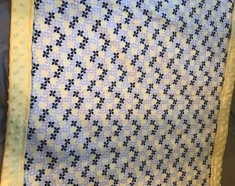 Gender neutral pinwheels baby blanket