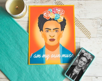 Frida Kahlo - Mexican Art - Frida Kahlo Art - Frida Poster - Feminist - Mexican Decor - Mexican Folk Art - Feminist Poster - Latino