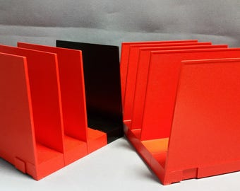 Vintage Starmark File Mate File/Magazine Dividers, set of 9, Orange and Black