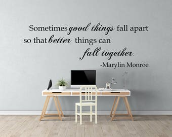 Marilyn Monroe Wall Quote, Wall Decal, Great For Home, Bedroom And Living  Room