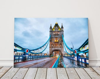 Tower bridge London Canvas Print Wall decor british picture morning walking view