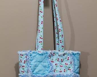 Rag Quilt Tote Bag