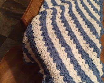 Handmade crocheted baby blanket