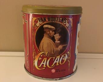 Vintage German Van Houten Cacao Tin