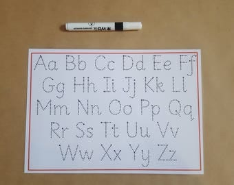 Tracing Letters, Handwriting Practice Mat, Letter formation, alphabet formation, Wipe Clean, dry wipe, writing letters, early learning, EYFS