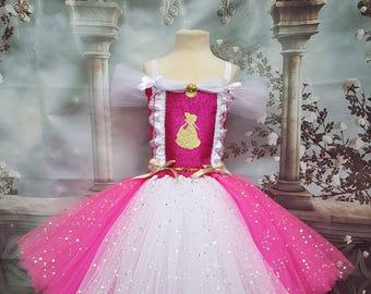 Sleeping Beauty princess Aurora style tutu dress
