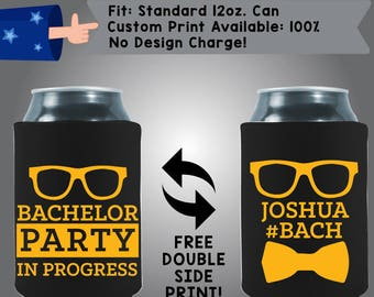 Bachelor Party In Progress #Bach Collapsible Fabric Bachelor Party Can Cooler Double Side Print (Bach65)