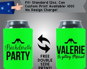 Bachelorette Party Name is Getting Married! high heal Collapsible Fabric Bachelorette Party Can Cooler Double Side Print (Bachelorette27)