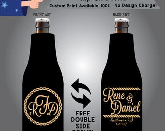 Monogram Name & Name Place Date Slip On Bottle Double Side Print (SF-W6)