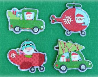 Christmas Ornaments, Santa Ornament Set, Ornaments, Tree Decorations, Here Comes Santa