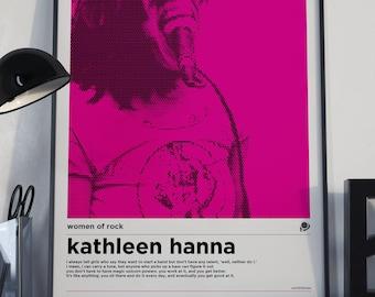 A3 Kathleen Hanna Women of Rock Poster