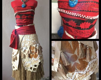 Moana cosplay costume disney princess FREE SHIPPING