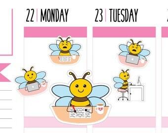 Work Planner Stickers, Office Stickers, Work Stickers, Planner Stickers, Computer, Happy Planner Stickers, Erin Condren Planner Stickers