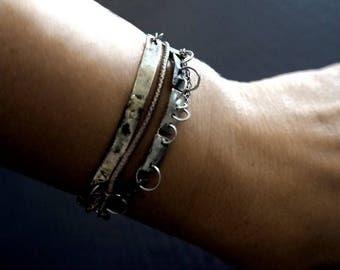 Multi strand bracelet, Sterling Silver, Modern Bracelet, Raw Sterling Silver, silver bracelet, Unique Bracelet, jewelry, Modern jewelry