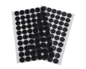 60 Velcro, Velcro dots, glue points, 15 mm, self-adhesive, black