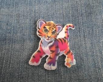 Handmade Multi Color Colour Tiger Cub Pin Badge