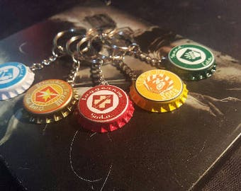 High Quality PERK-A-COLA CAP Keychains