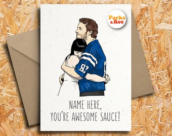 Andy And April Personalised Valentineu0027s Day Card With Badge Option, Parks  And Recreation, Ron