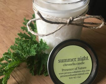 Citronella Candle , Outdoor Citronella Candle , Summer Decor , Citronella Mason Jar Candle , Citronella Mosquito Candle , Summer Candle