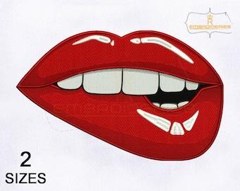 Дизайн губы машинной вышивки 94