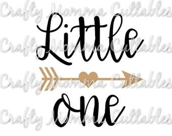 Little One SVG file // New Baby SVG // Hello World Cut File // Cut File // Silhouette File // Cutting File